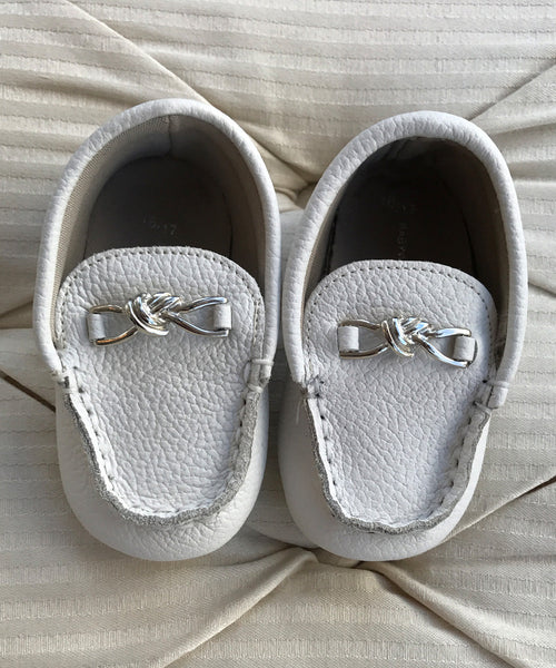Ivory Baby Luxury European Leather Moccasins