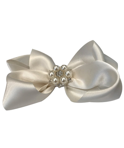 Luxe Large Pearl & Crystal Hair Bow
