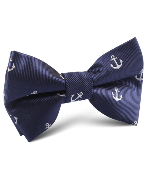 Navy Anchor Bow Tie