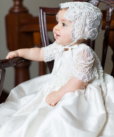 'Royal Highness' Christening Gown Set- LAST ONE SALE!