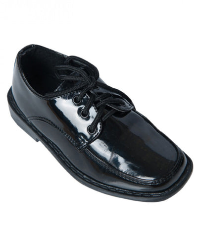 Square Toe Patent Tuxedo Shoes