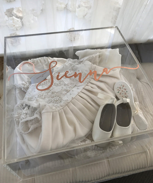 Girls Personalised Clear Keepsake Box