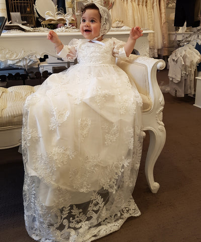 'Keys To The Palace' Couture Christening Gown