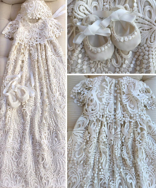 'Lace Symphony' Heirloom Christening Gown
