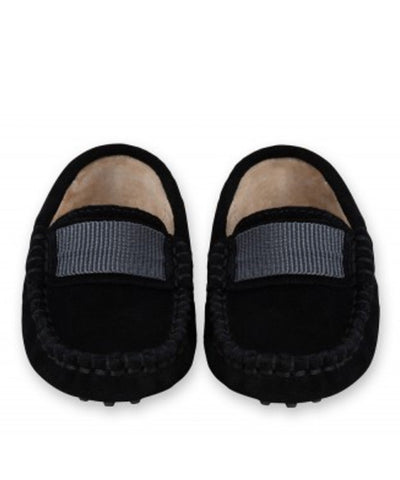 Oscar's For Kids Black Suede Loafers