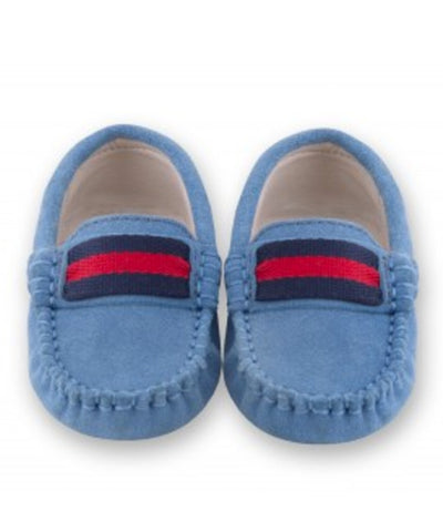 Oscar's For Kids Mid-Blue Suede Loafers