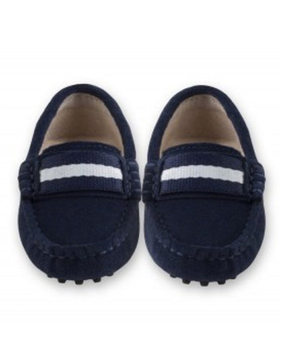 Oscar's For Kids Navy Suede Loafers