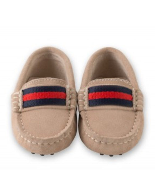 Oscar's For Kids Beige Suede Loafers