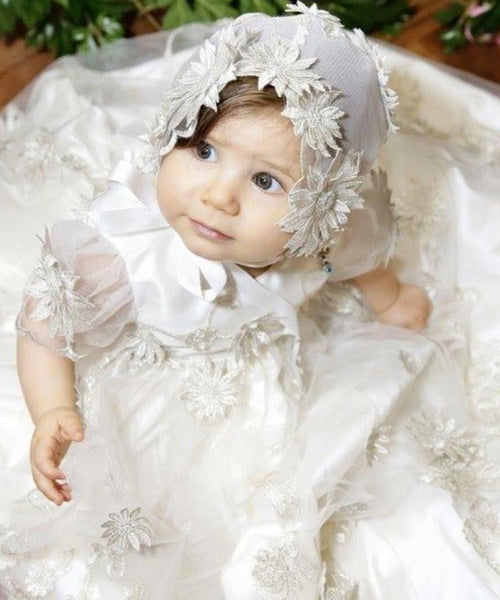 'Florentina Bella' Christening Gown Set - Pewter