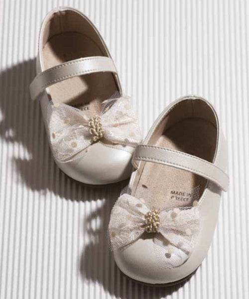 Spot Tulle Bow Baby & Toddler Shoes