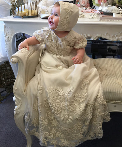 Steven Khalil 'Lovebirds' Christening Gown Set