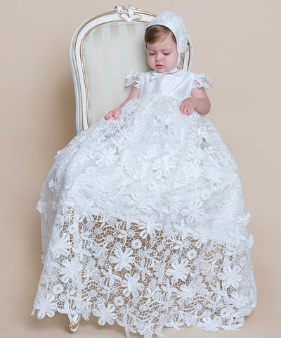 'Floral Symphony' Christening Gown Set