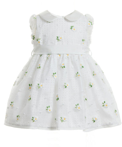 Monnalisa Daisy Flower Baby Dress
