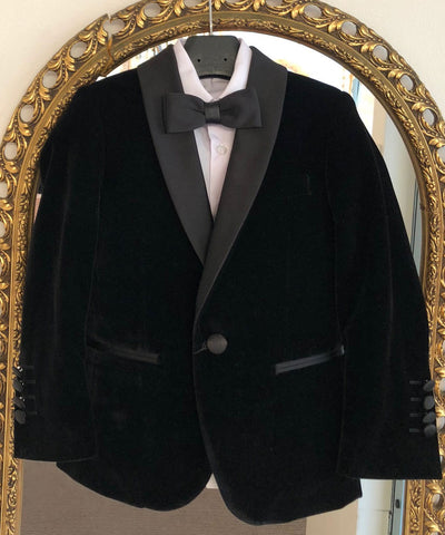 Velvet Slim Fit Tuxedo Suit Set