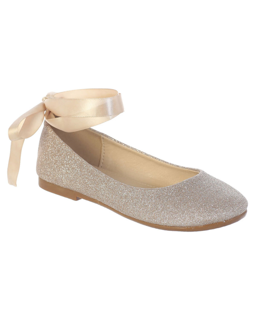 4d3541fe6b16 Ballerina Belle Shoes - Rose Gold – Stellina Cute Couture For Children
