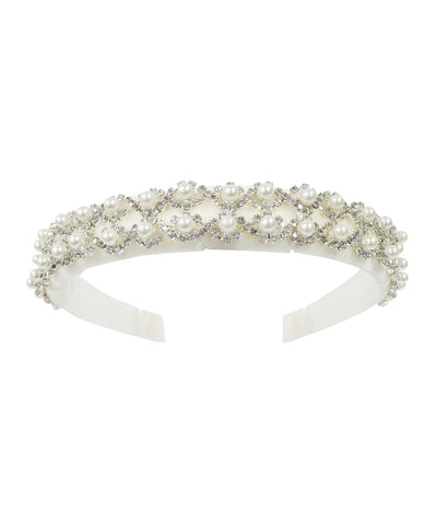 David Charles Pearl & Crystal Detail Headband