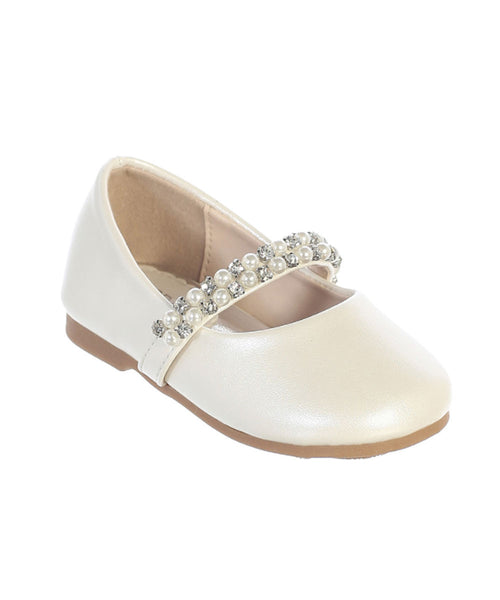 Pearl and Crystal Ivory Girls Shoes