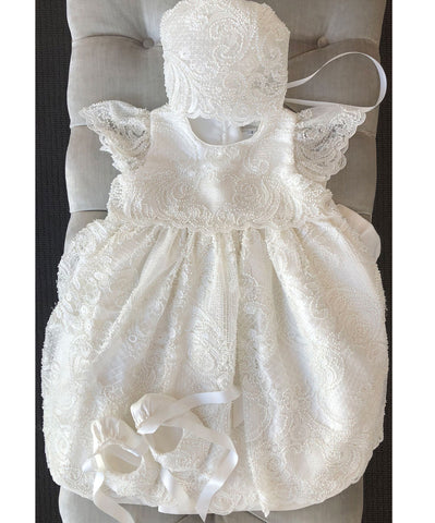 Queen Of Lace Baby Dress - 3 Piece Set