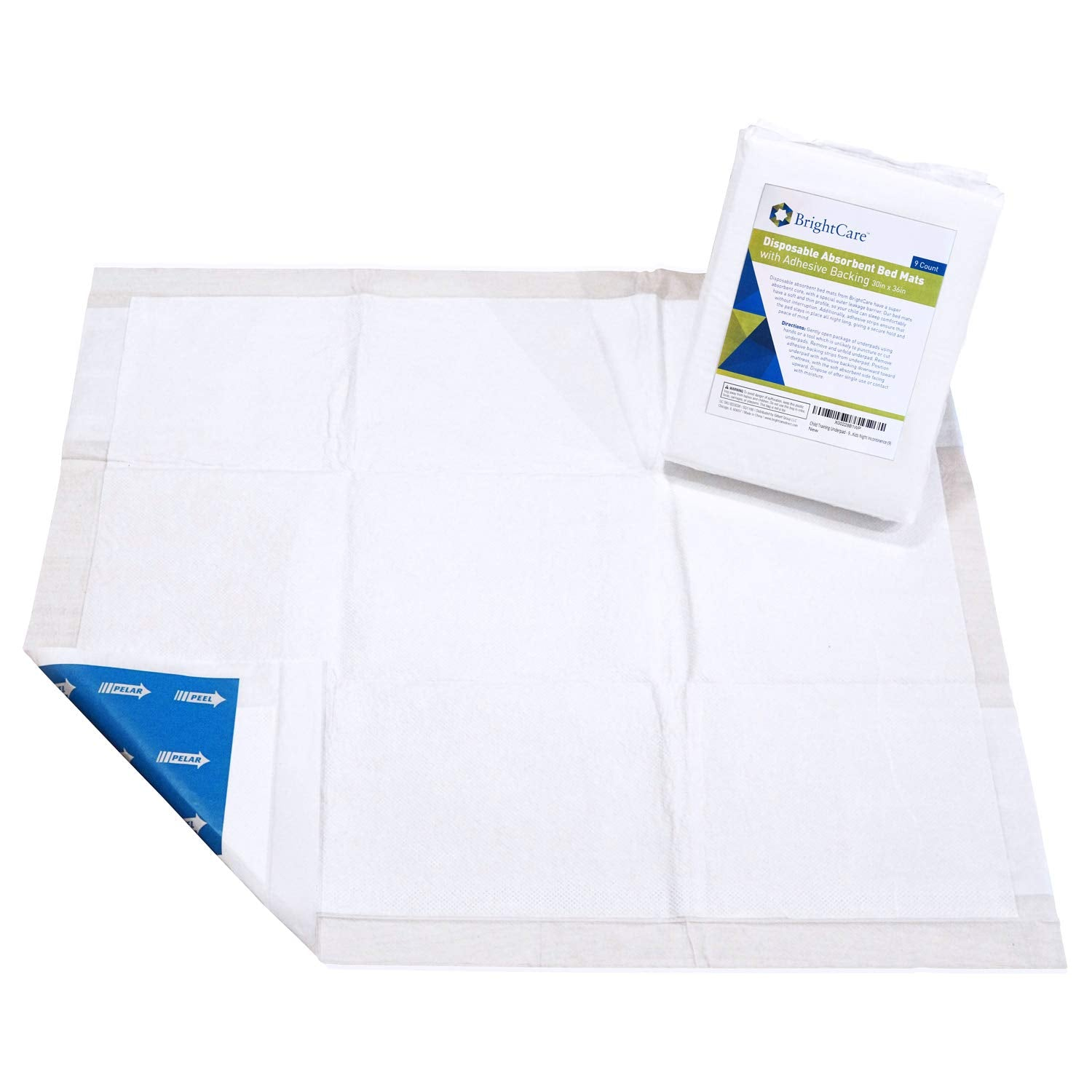 Disposable Absorbent Waterproof Bed Mats With Adhesive 30wx36l Und Brightcare