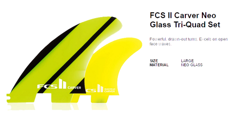FCS II Carver Neo Glass Tri-Quad Five Fine Set