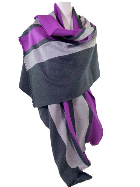 Racer Stripe Brushed Silk Wrap