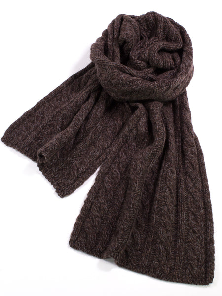 Cashmere Heather Cable Knit Scarf