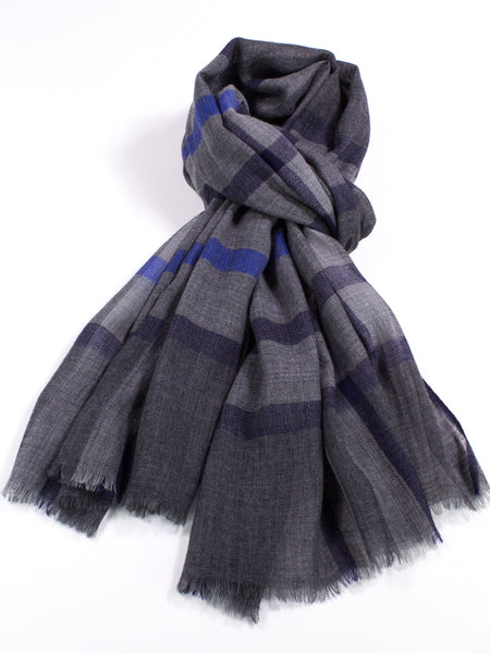 Lightweight Wool Plaid Scarf
