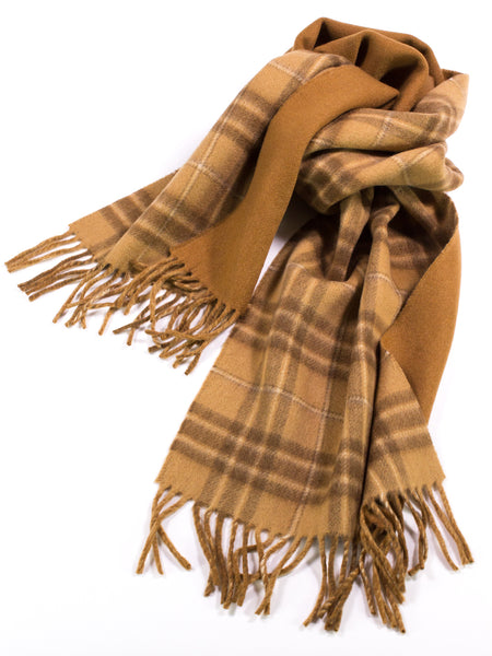 Reversible Plaid Scarf in Cashmere