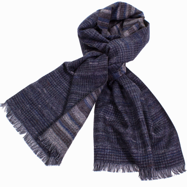 Tweedy Glen Plaid Reversible Brushed Silk