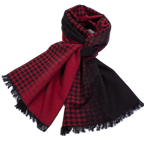 Brushed Silk Houndstooth Scarf