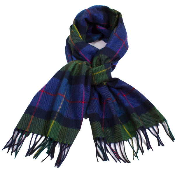 Plaid Cashmere Scarf with Fringe