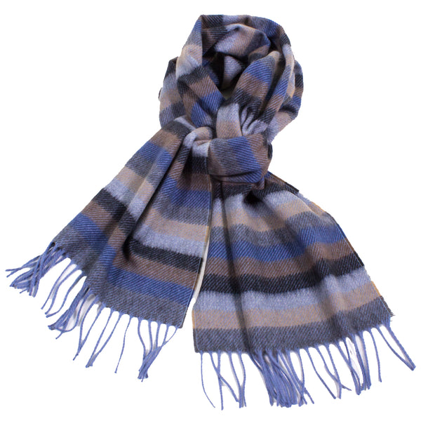 Striped Cashmere Scarf with Fringe