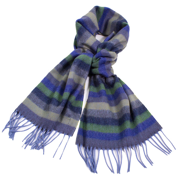 Candy Striped Cashmere Scarf with Fringe