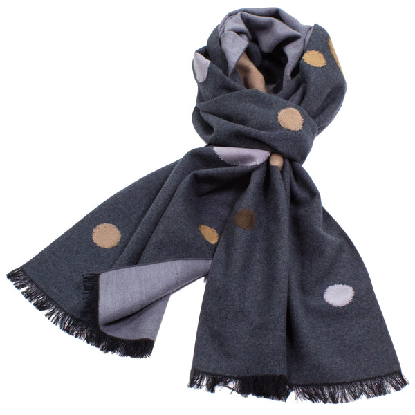 Brushed Silk Floating Dots Scarf