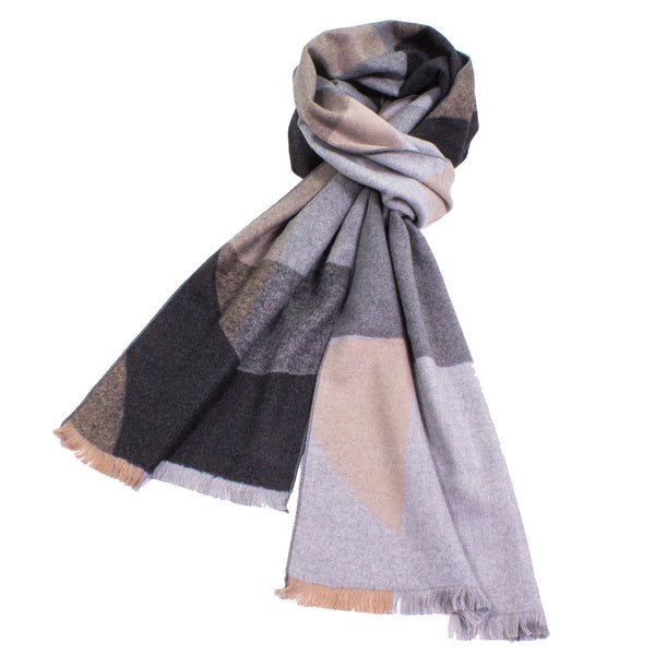 Abstract Scarf in Neutral Colors