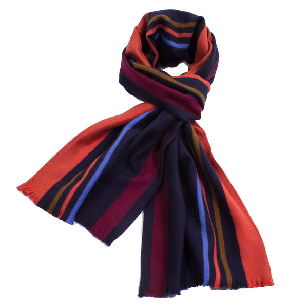 Sporty Stripe Brushed Silk Scarf