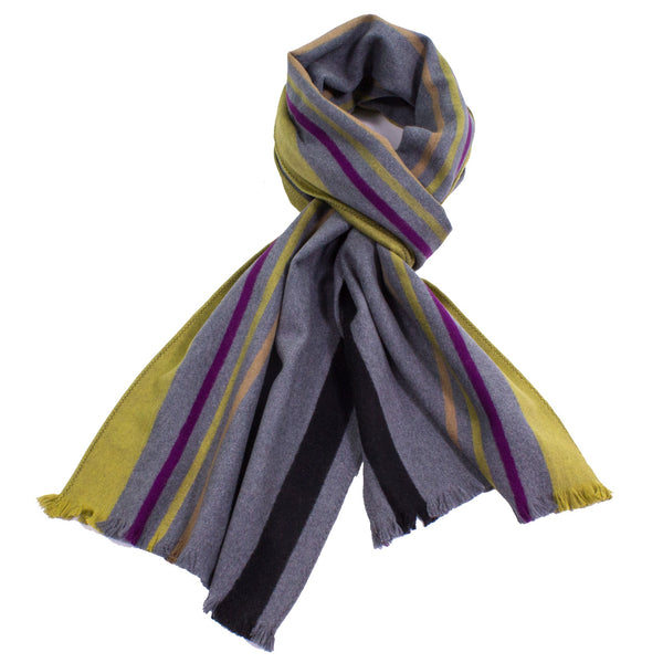 Kiwi Sporty Stripe Brushed Silk Scarf