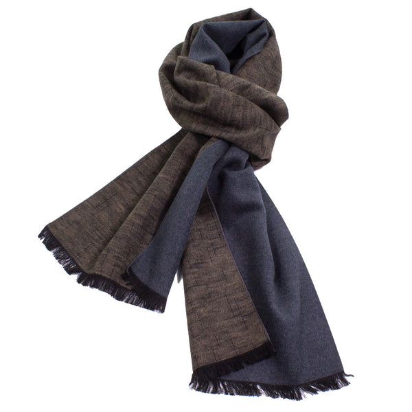 Unsolid Solid Reversible Brushed Silk Scarf