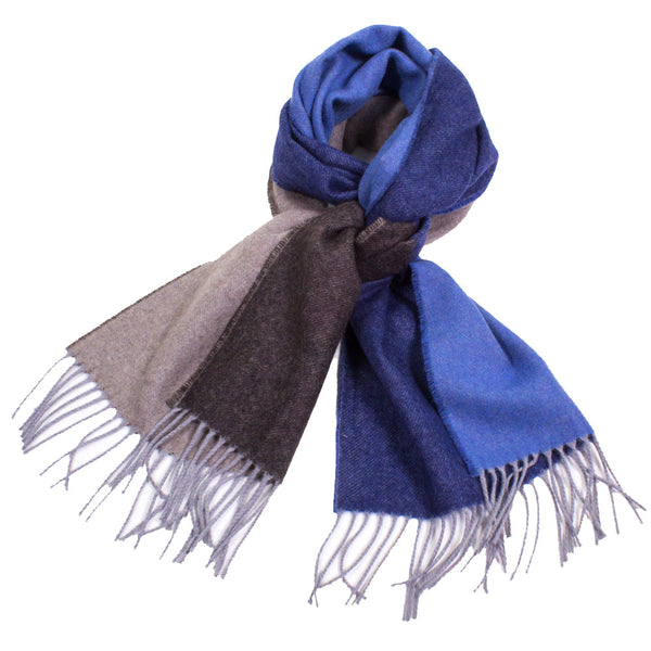 Multi-Color Cashmere Blend Scarf with Fringe
