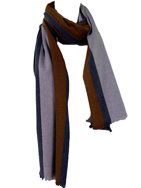 Racer Stripe Brushed Silk Oversized Scarf/Wrap
