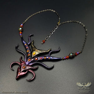*The Devil's Reach* Wearable Art Necklace - wizArts