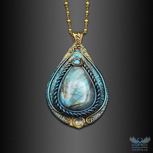 """Tear of the North"" v2 - A Unique and Magical Art Necklace - wizArts"