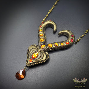 *Heart of Fire* Handmade, Magical Art Necklace - wizArts