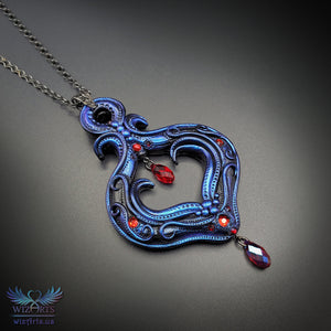 *Vampire Mystique* - A Unique and Magical Art Necklace - wizArts