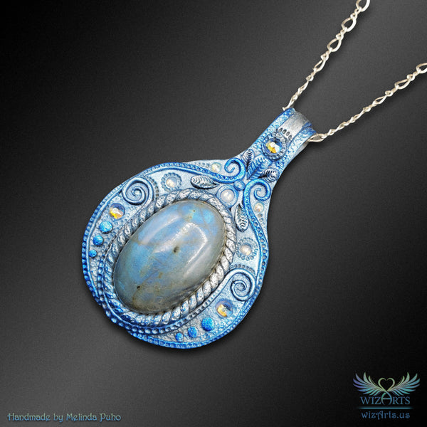 *Frozen Talisman* Handmade, Magical Art Necklace - wizArts