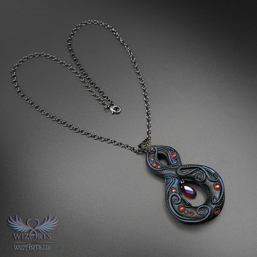 *Infinity* Dark Fantasy, Gothic, Handmade Necklace, Magical Wearable Art
