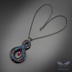 *Infinity* Dark Fantasy, Gothic, Handmade Necklace, Magical Wearable Art - wizArts