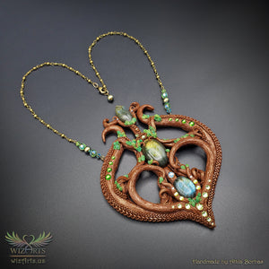 *Magick of the Forest* Handmade Statement Art Necklace - wizArts