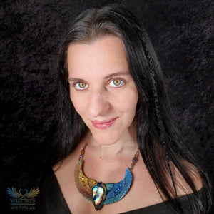 *Duality* Hand-Sculpted Polymer Clay and Labradorite Necklace - wizArts