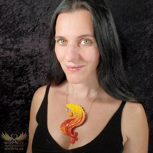 *Phoenix Rising* - A Unique and Magical Art Necklace - wizArts